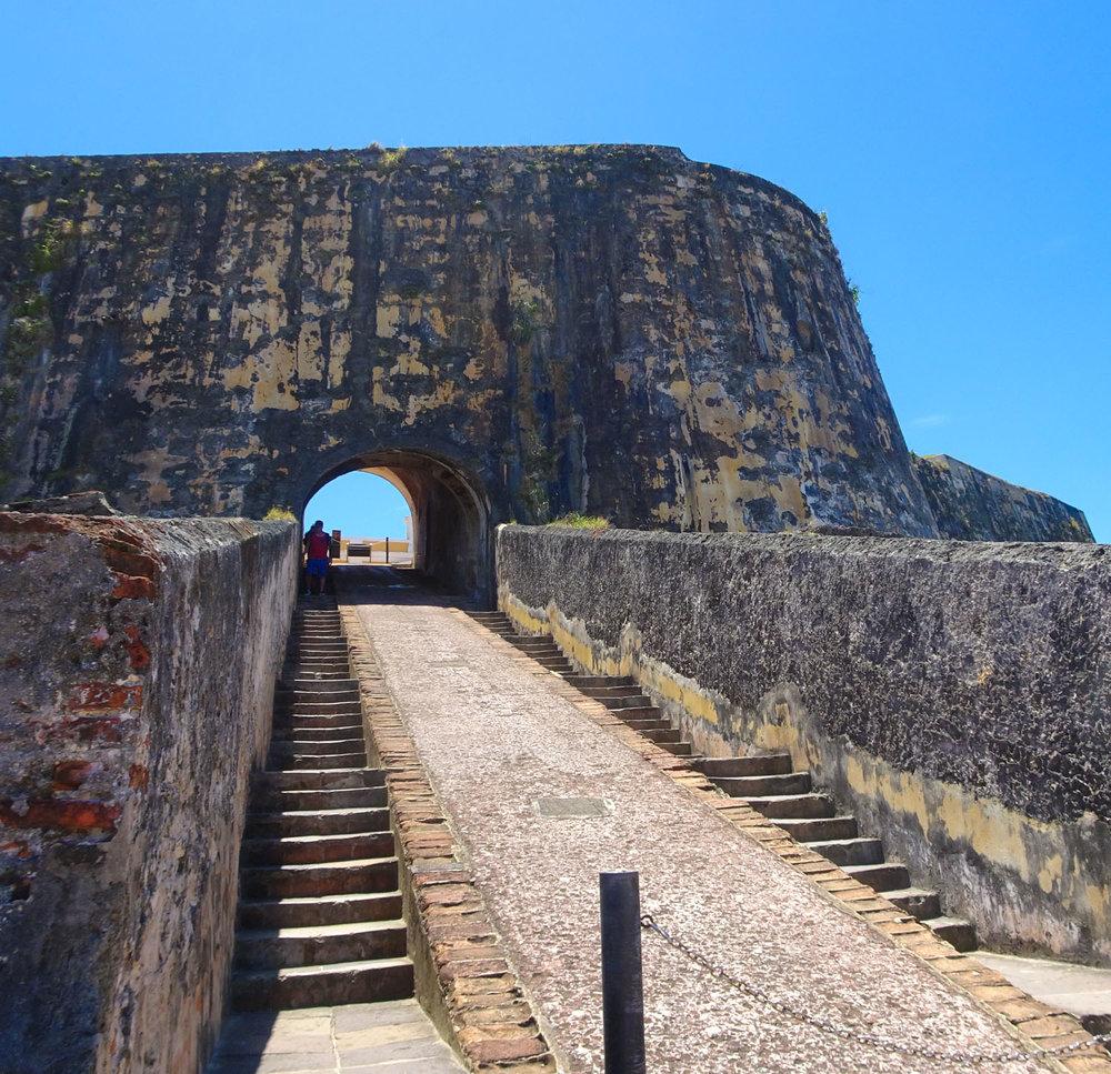Outer Walls - Castillo San Felipe Del Morro - San Juan Photo: Calvin Wood