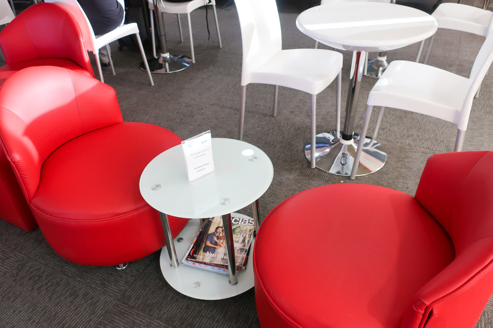 Bright Style Seating - Avianca Lounge - Mexico City   Photo: Calvin Wood