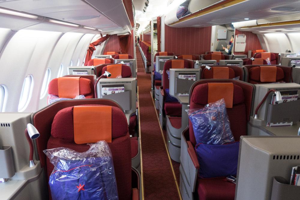 Hong Kong Airlines Business Class - A330 Cabin Photo: Calvin Wood