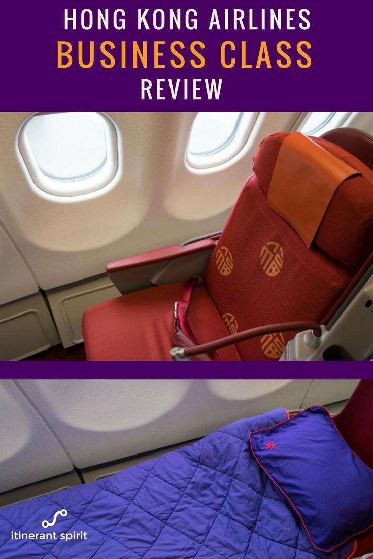 Hong Kong Airlines Business Class Review - A330 - Itinerant Spirit Blog