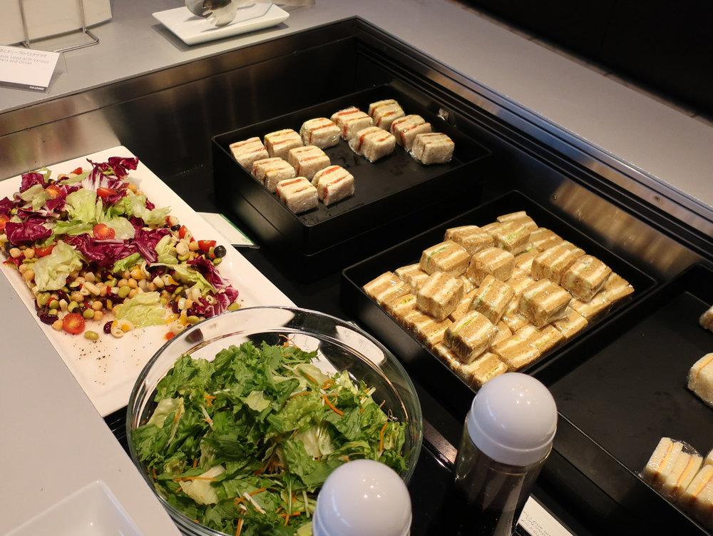 Salad & Sandwiches - ANA Lounge Tokyo  Photo: Calvin Wood