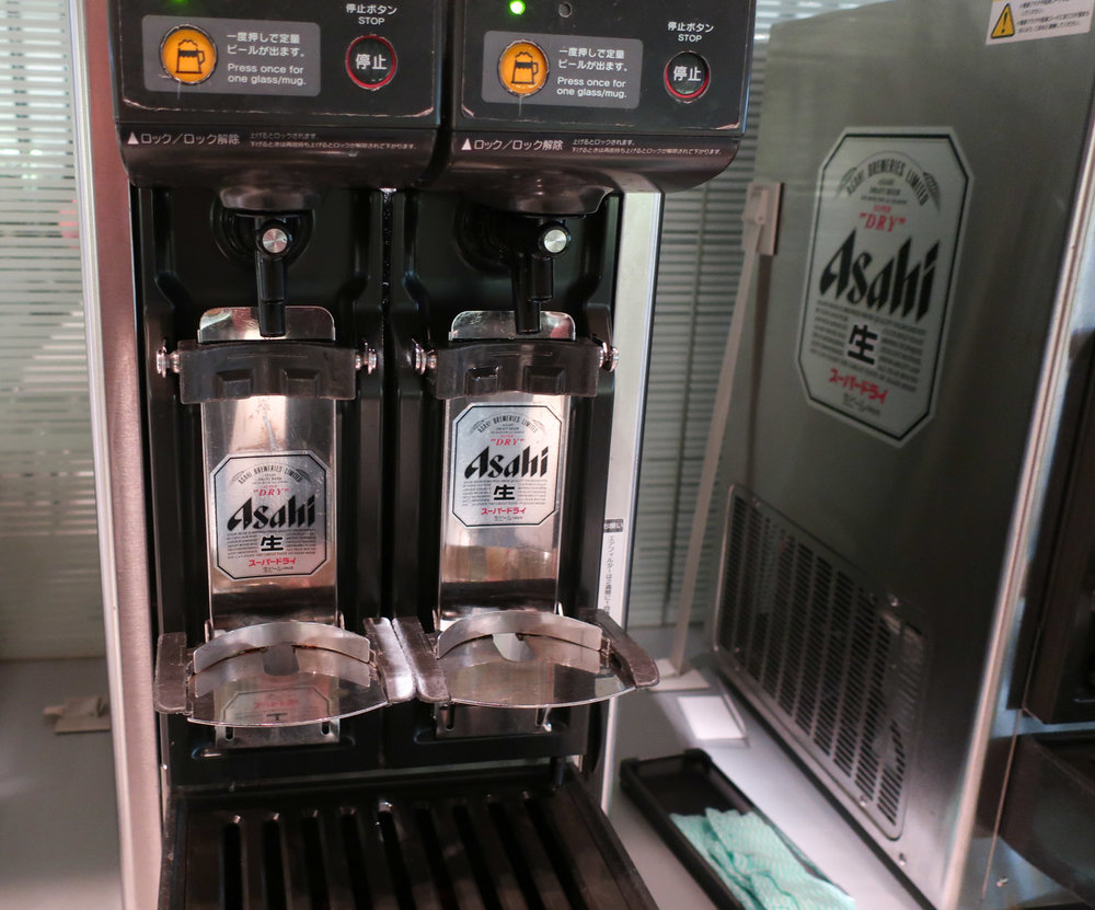 Asahi Automatic Beer Dispensers - ANA Lounge Tokyo  Photo: Calvin Wood