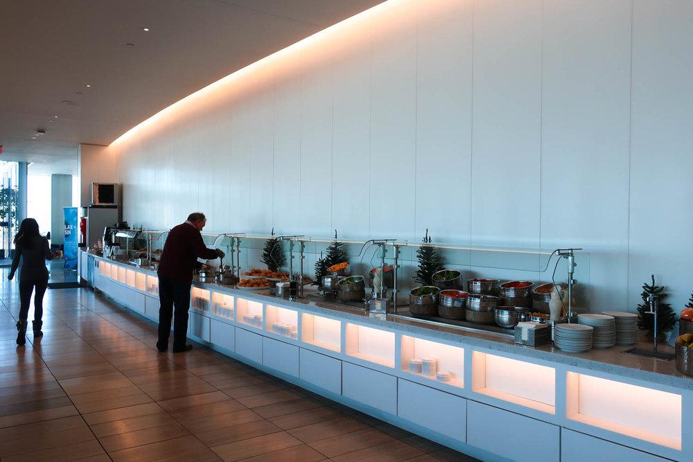 Buffet - United Club Lounge - LAX  Photo: Calvin Wood