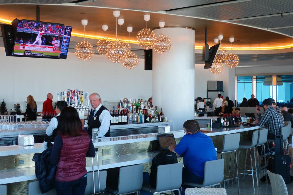 The Bar - United Club Lounge LAX  Photo: Calvin Wood