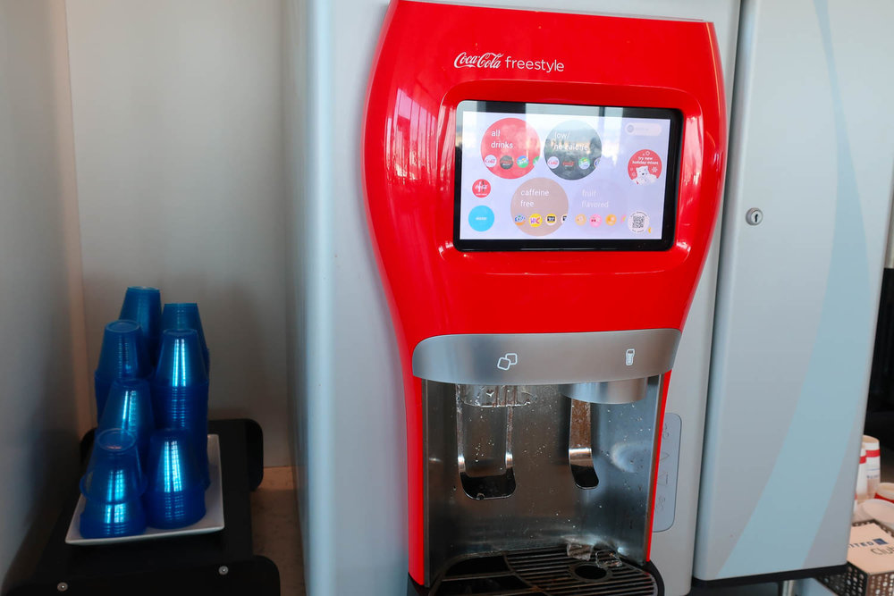The all powerful Coke Freestyle Machine - United Club LAX    Photo: Calvin Wood
