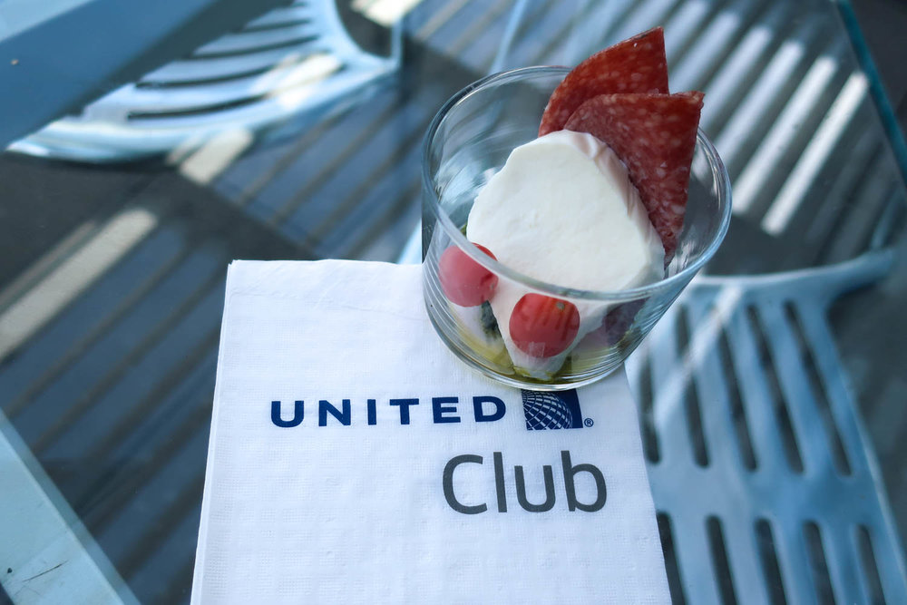 Appetizers - United Club Lounge LAX    Photo: Calvin Wood
