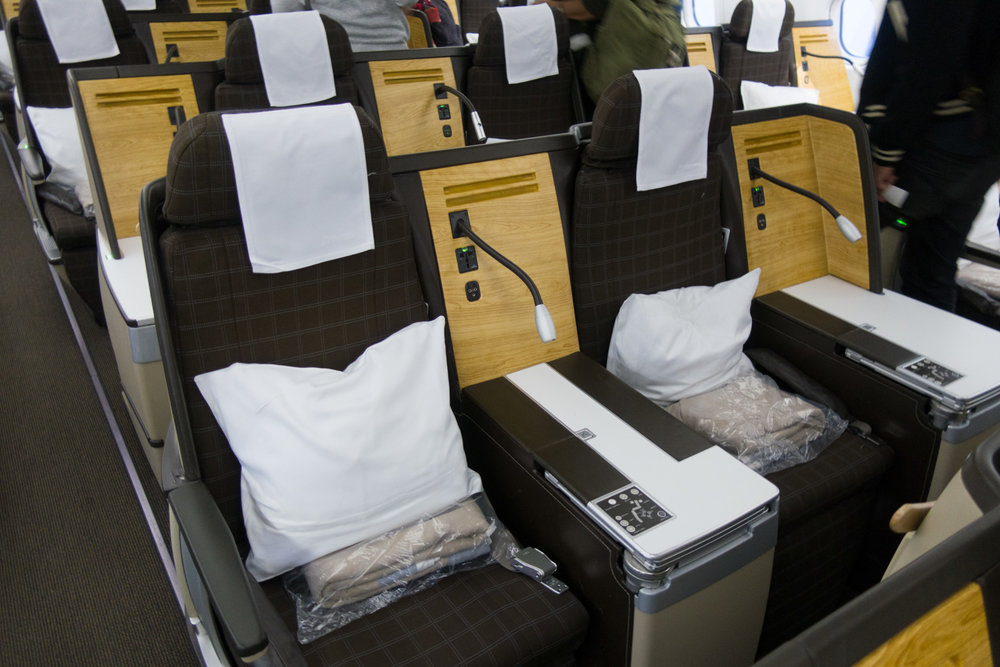 Swiss Business Class - Seating A330    Photo: Calvin Wood