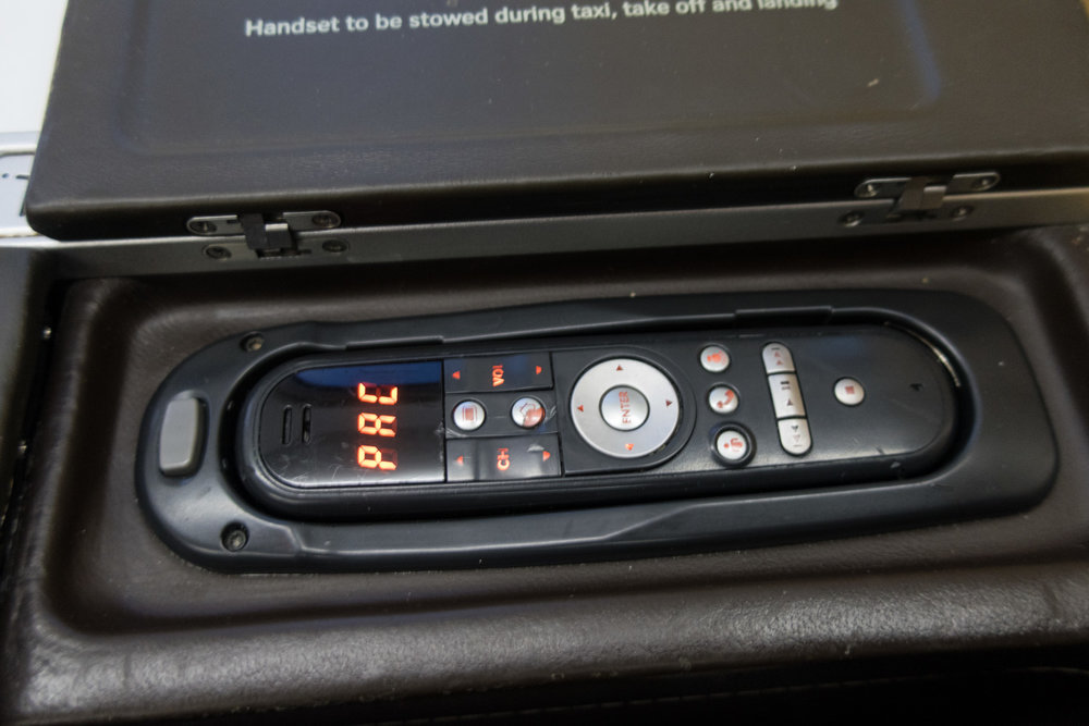 Video Controls - Swiss Business A330     Photo: Calvin Wood