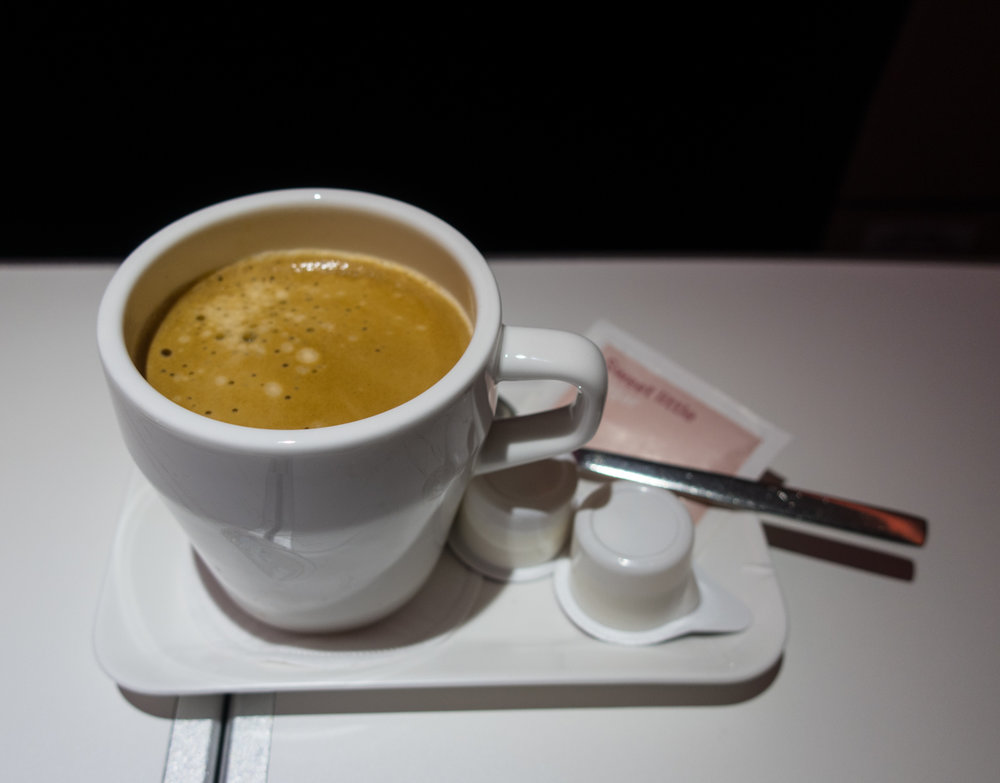 Nespresso Coffees - Swiss Business Class A330    Photo: Calvin Wood