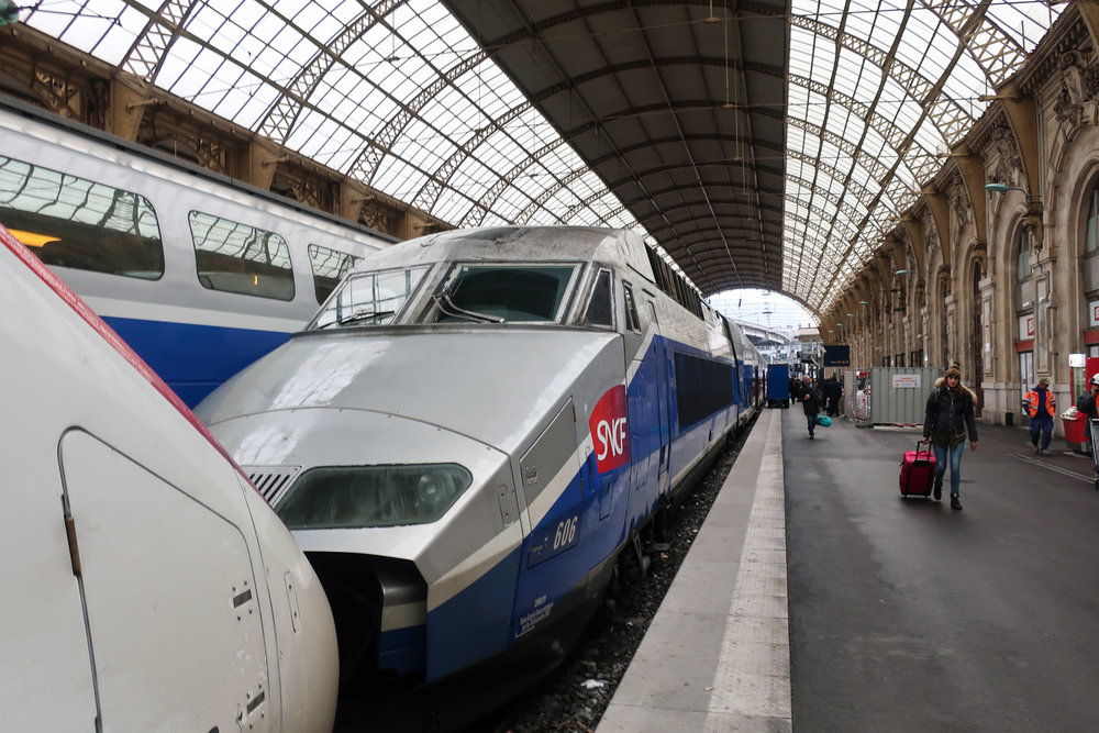 TGV - Nice Station    Photo; Calvin Wood