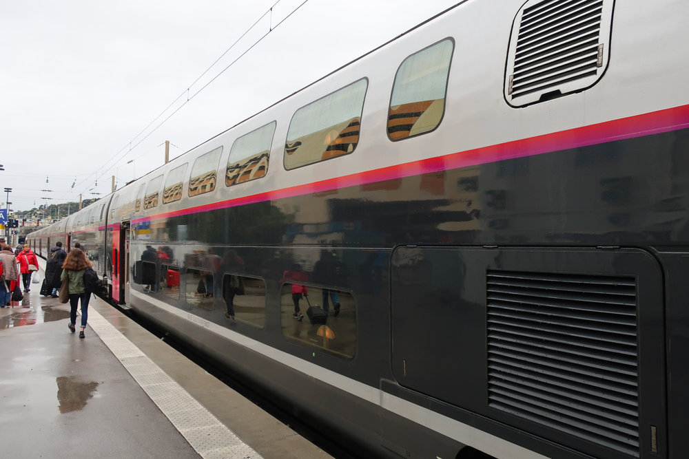 Double Decker Cars -  SNCF TGV  Nice to Paris    Photo: Calvin Wood