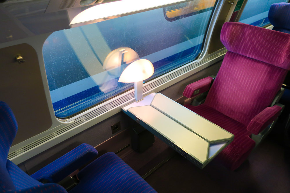 Single Seats with Shared Table - First Class TGV    Photo: Calvin Wood