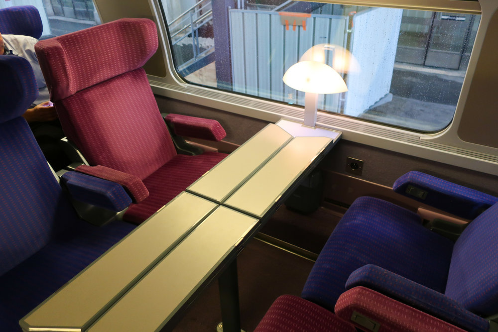 Foursome Seats with Shared Table - First Class TGV    Photo: Calvin Wood