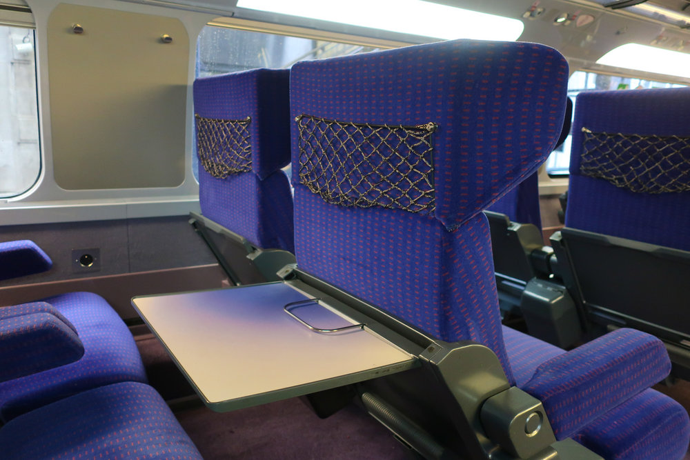 Every Seat has a Big Table - First Class TGV    Photo: Calvin Wood