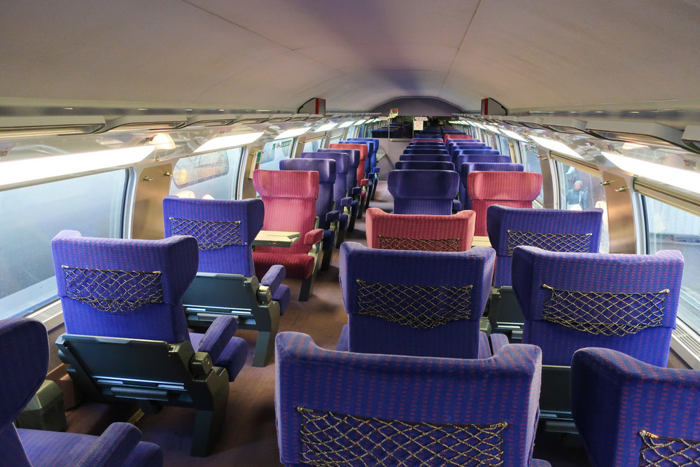 TGV First Class - Nice to Paris - Upper Deck    Photo: Calvin Wood