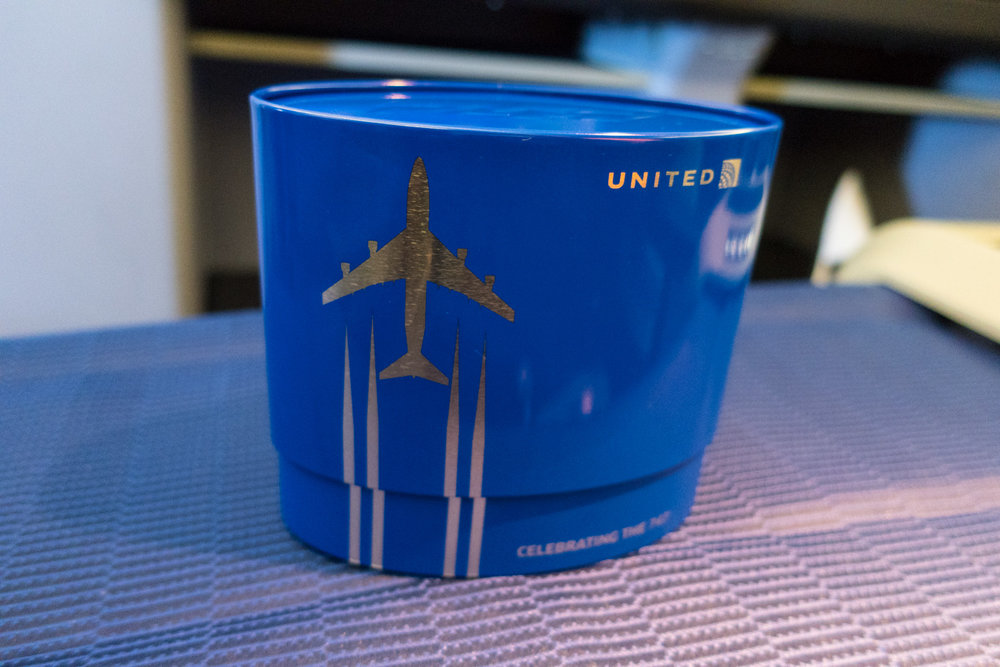 Amenity Kits - United Airlines Business Class    Photo: Calvin Wood