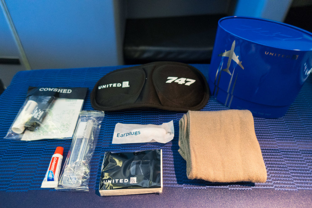 Amenity Kit Contents - United Airlines Business Class    Photo: Calvin Wood