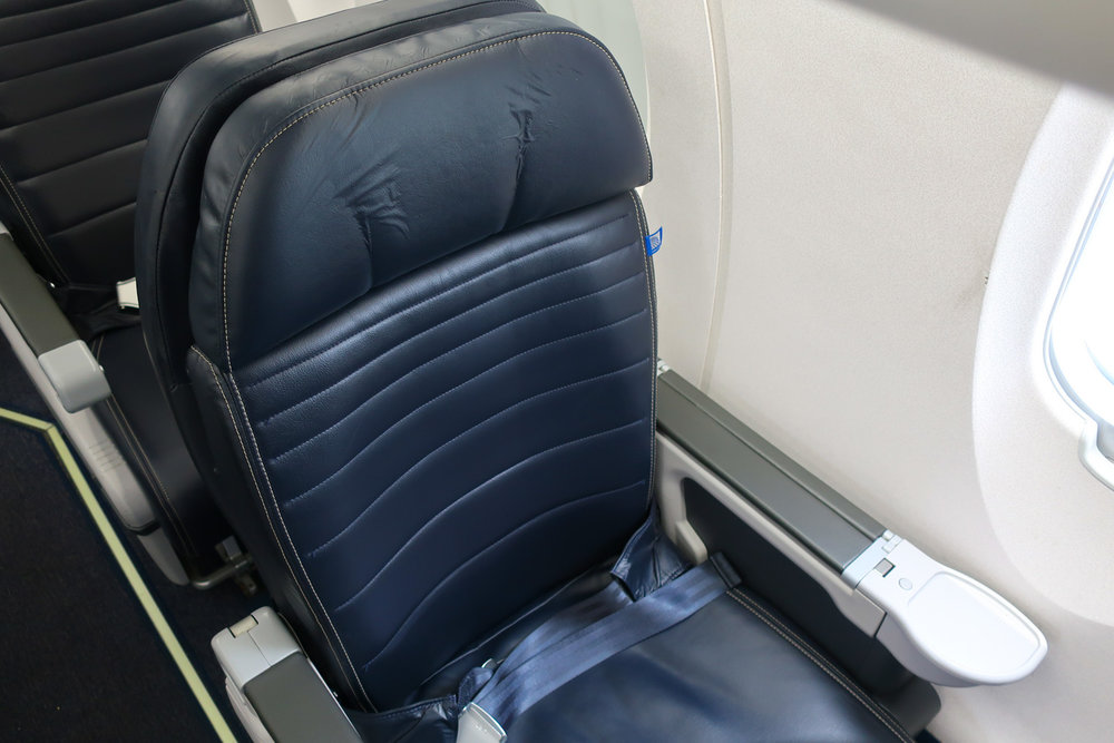 Solo Seat - United First Class CRJ-700  Photo: Calvin Wood