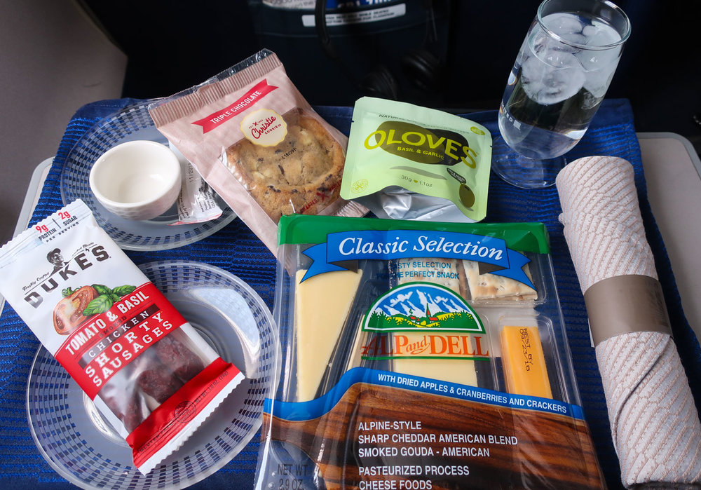 Cheese Plate - United First Class CRJ-700  Photo: Calvin Wood