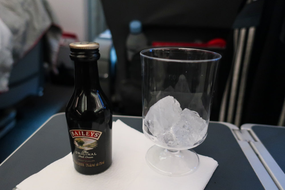 Bailey's Nightcap - Norwegian Airlines Premium Cabin    Photo: Calvin Wood