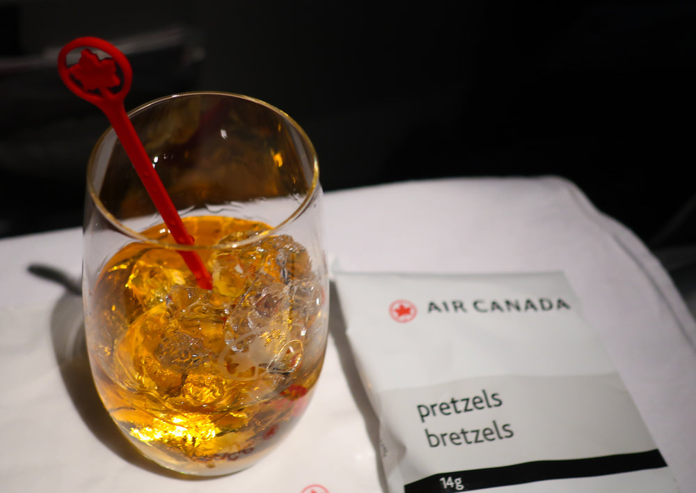 Single Malt Scotch -Air Canada Rouge Premium    Photo: Calvin Wood