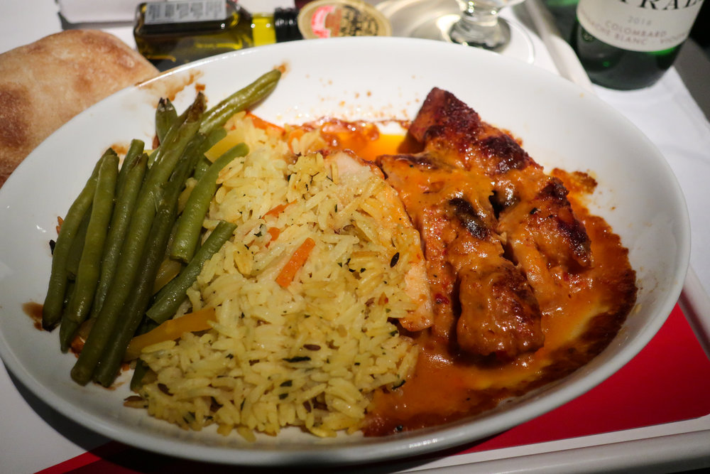 Chicken Piri Piri - Air Canada Rouge Premium Economy    Photo: Calvin Wood