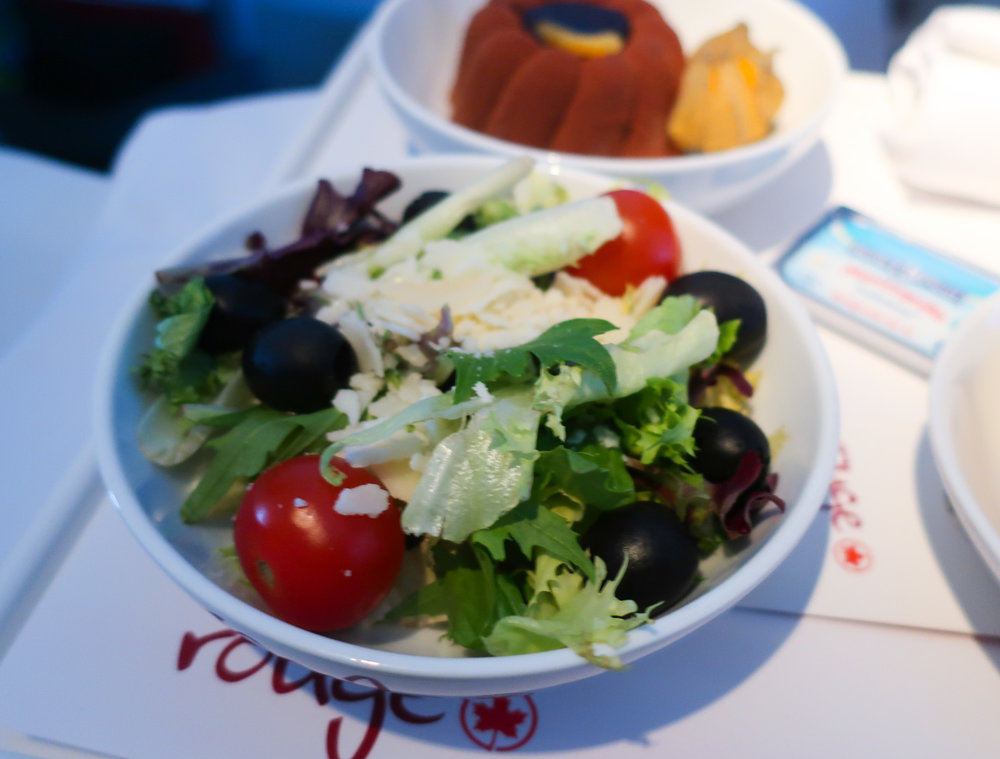 Salad - Air Canada Premium Economy    Photo: Calvin Wood