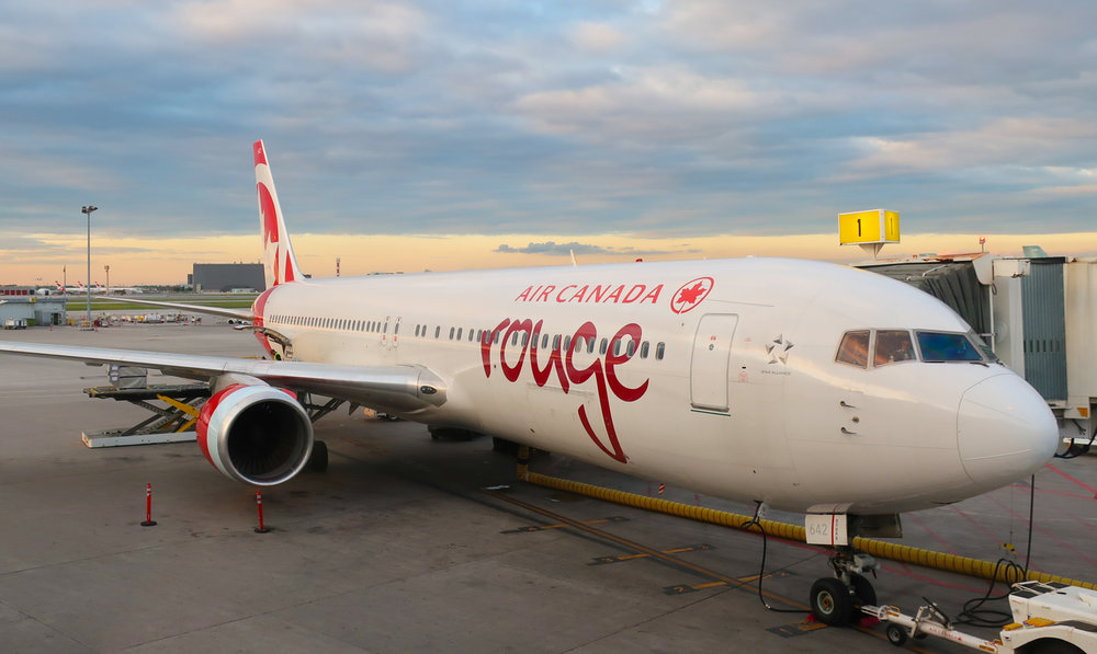 Air Canada Rouge - Boeing 767    Photo: Calvin Wood