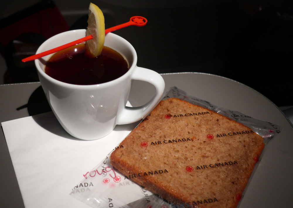 A light breakfast - Air Canada Rouge - Premium Economy    Photo: Calvin Wood