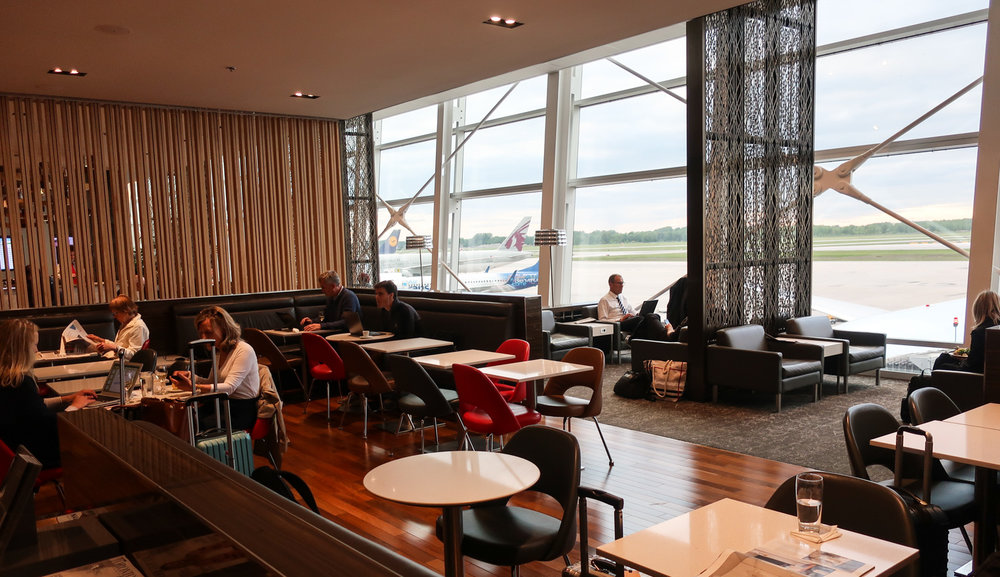 Air Canada International Maple Leaf Lounge - Montreal  Photo: Calvin Wood