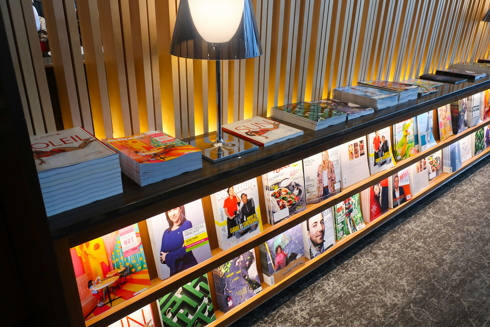 Magazine Wall - Maple Leaf Lounge Montreal    Photo: Calvin Wood