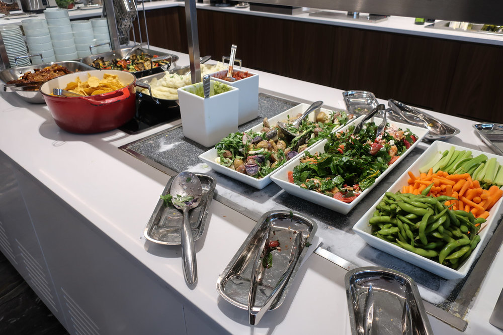 Salad Bar - Air Canada Business Class Lounge - Montreal   Photo: Calvin Wood