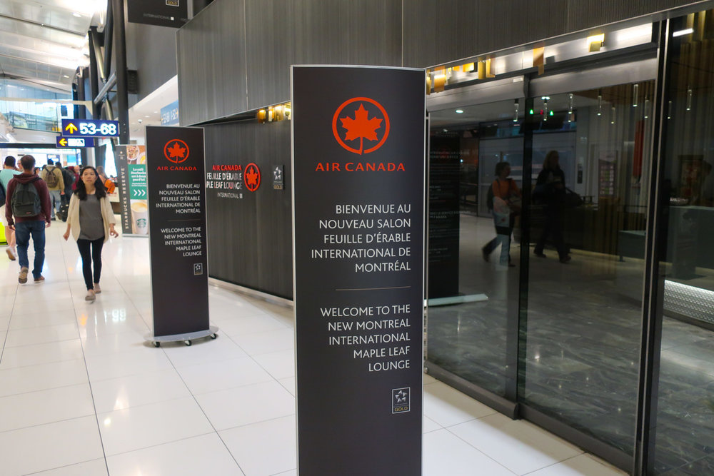 Entrance - International Maple Leaf Lounge - Montreal   Photo: Calvin Wood