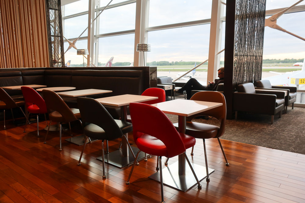 Eating Area - Air Canada Lounge Montreal    Photo: Calvin Wood