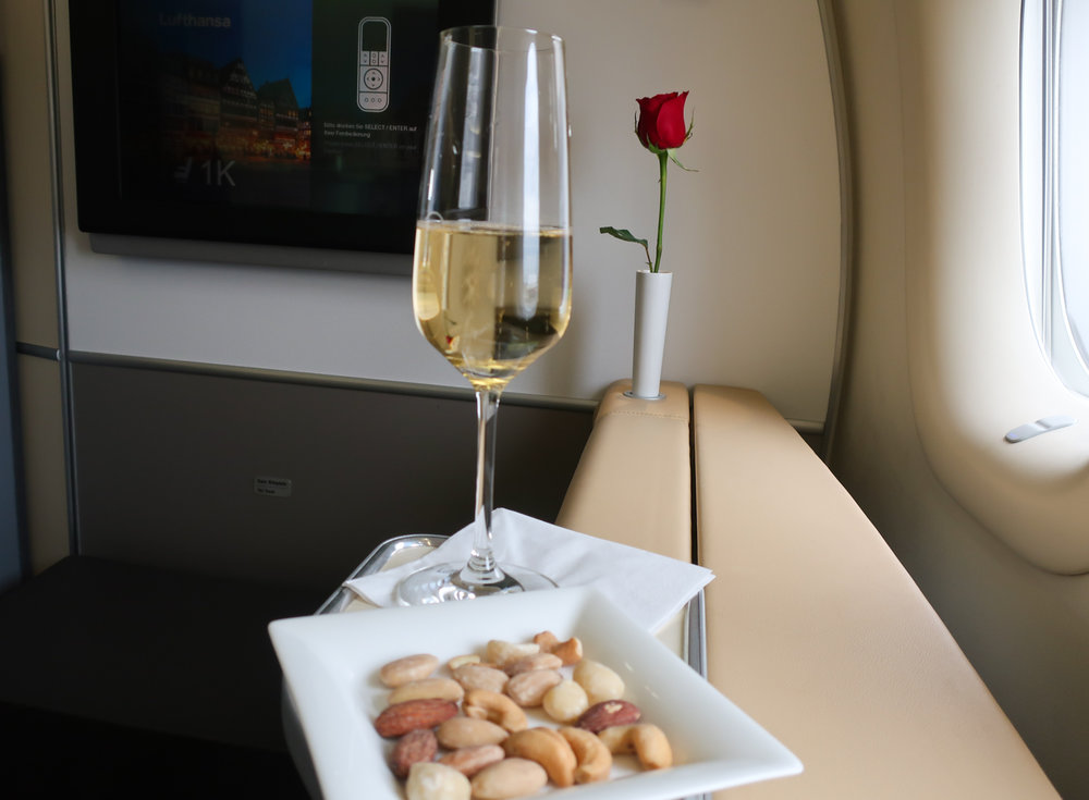 Premium Champagne Pre Departure - LH First Class    Photo: Calvin Wood