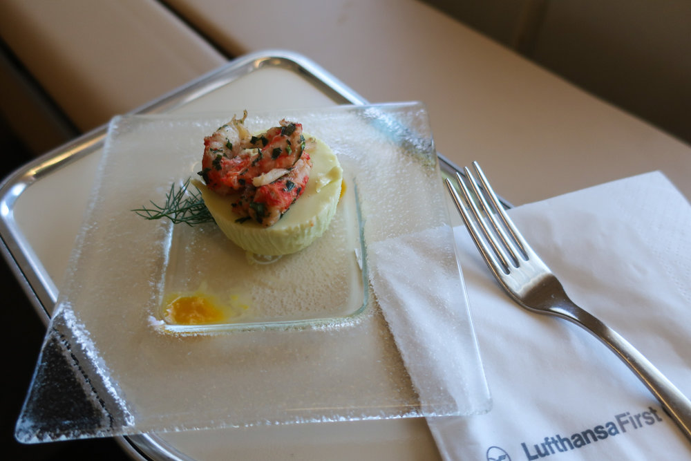 Amuse-Bouche - LH First Class    Photo: Calvin Wood