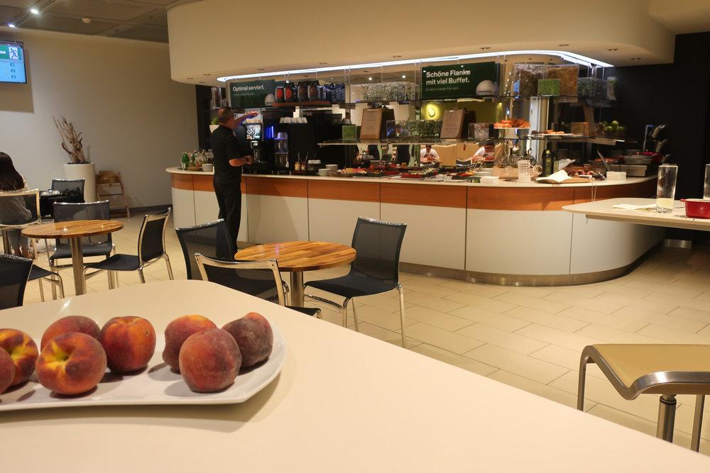 Buffet Area - LH Welcome Lounge Frankfurt  Photo: Calvin Wood