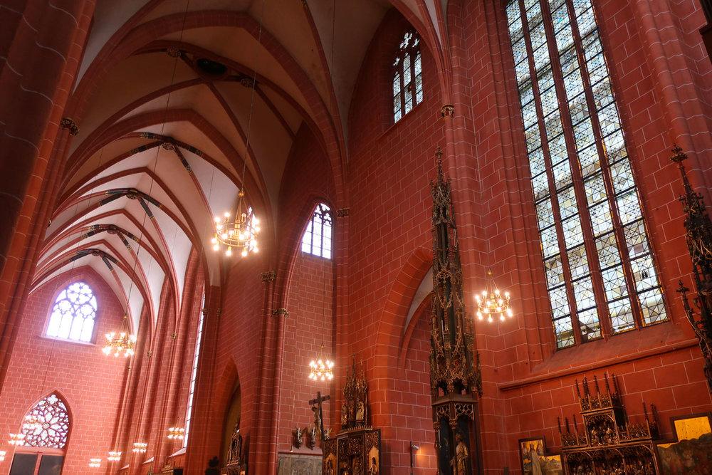 Soaring Vaulted Ceilings -  Dom St Barholomaus  - Frankfurt  Photo: Calvin Wood