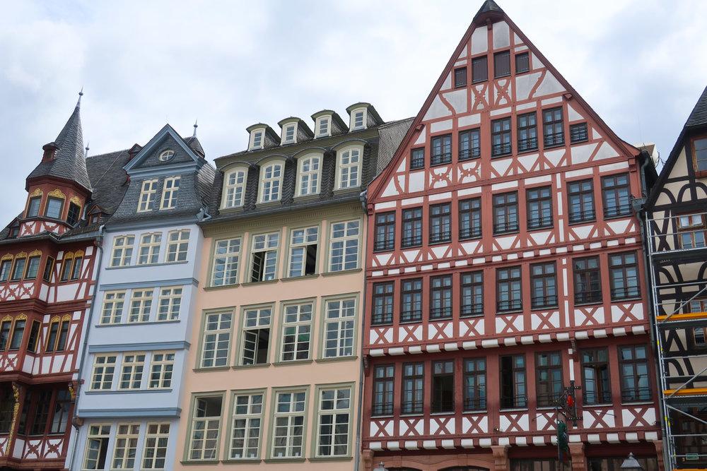 Gothic Buildings in  Romerberg  - Frankfurt  Photo: Calvin Wood
