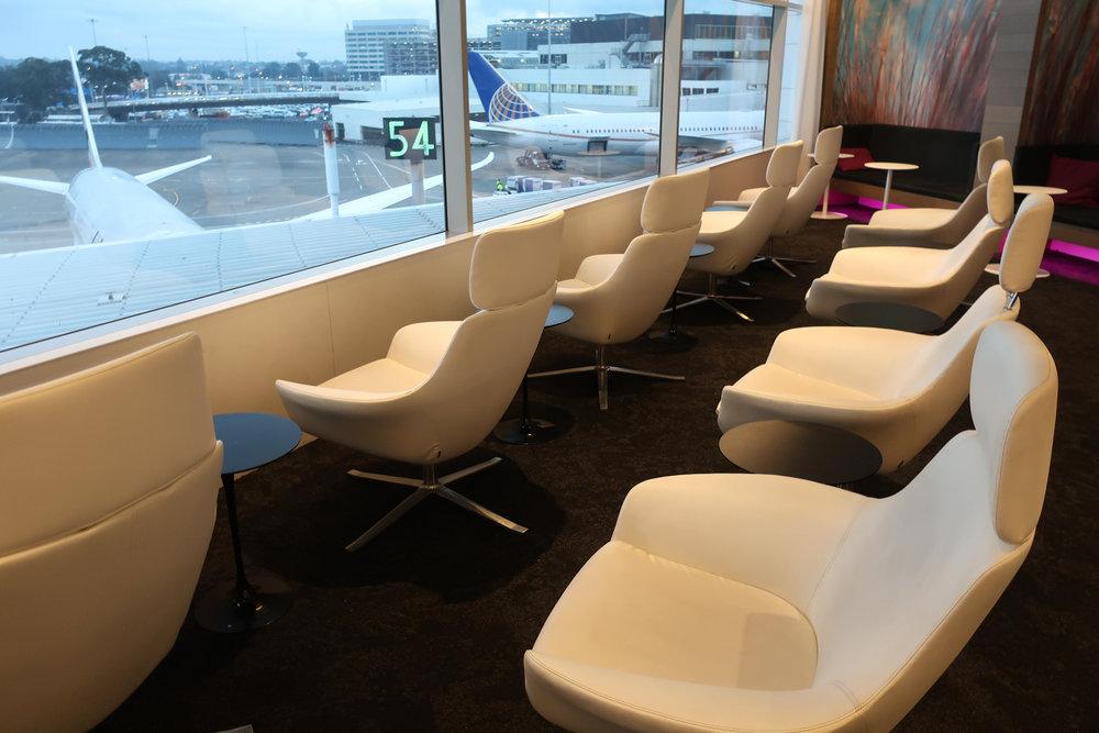 Tarmac Seating - Air New Zealand Lounge Sydney  Photo: Calvin Wood