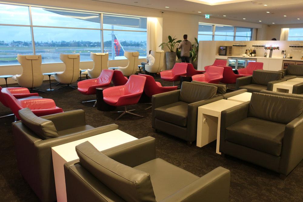 Plenty of Seating - Air New Zealand Lounge Sydney  Photo: Calvin Wood