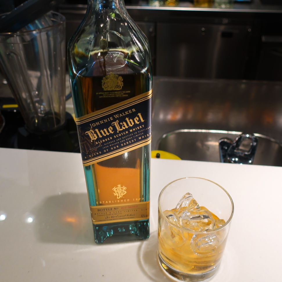 Johnnie Walker Blue Scotch - Lufthansa's First Class Terminal    Photo: Calvin Wood