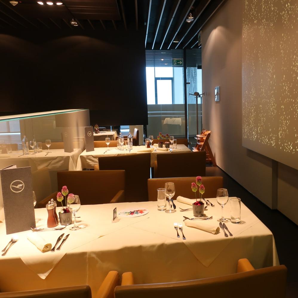 Dining Area -  First Class Terminal  Lufthansa  Photo: Calvin Wood