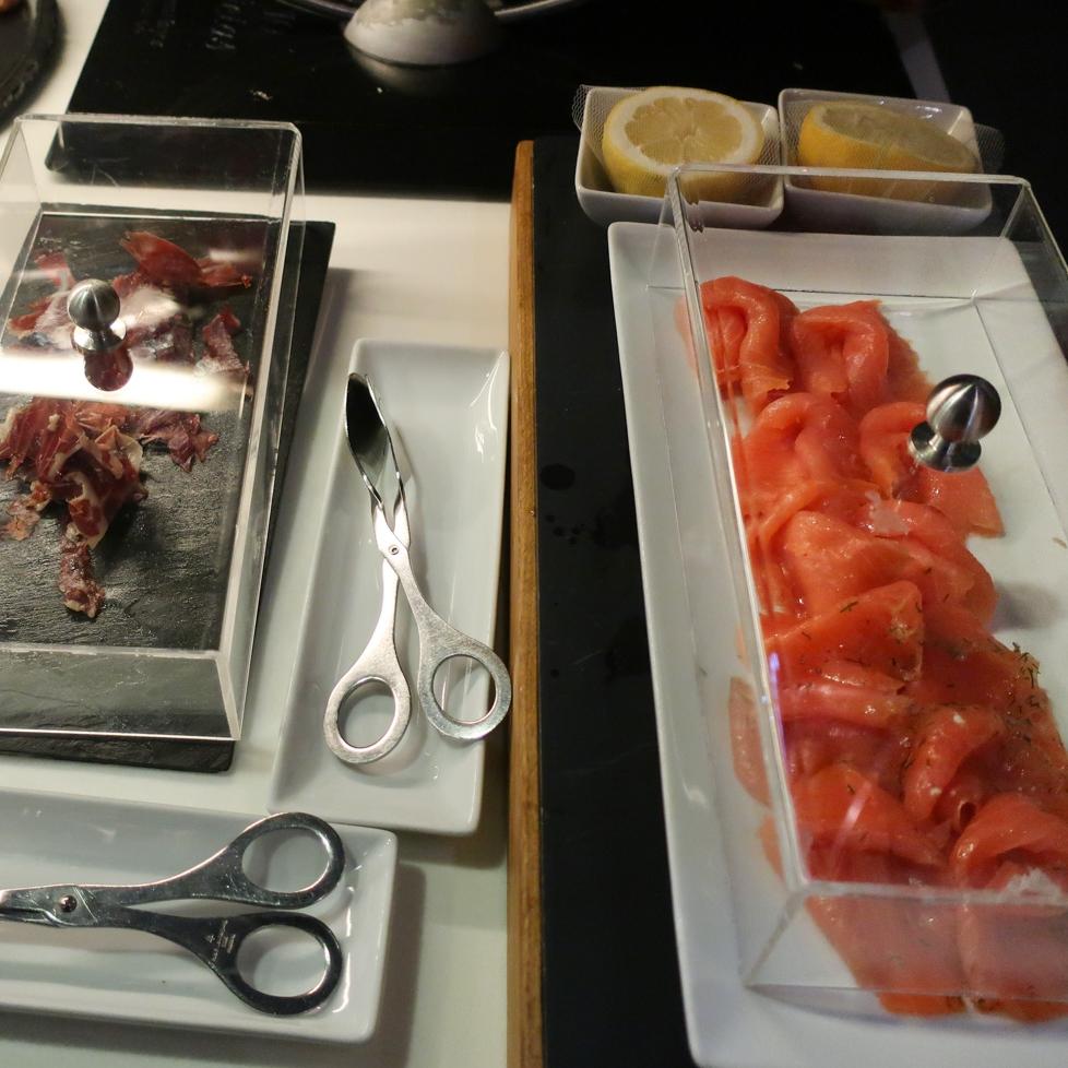 Smoked Salmon - First Class Lounge Frankfurt  Photo: Calvin Wood