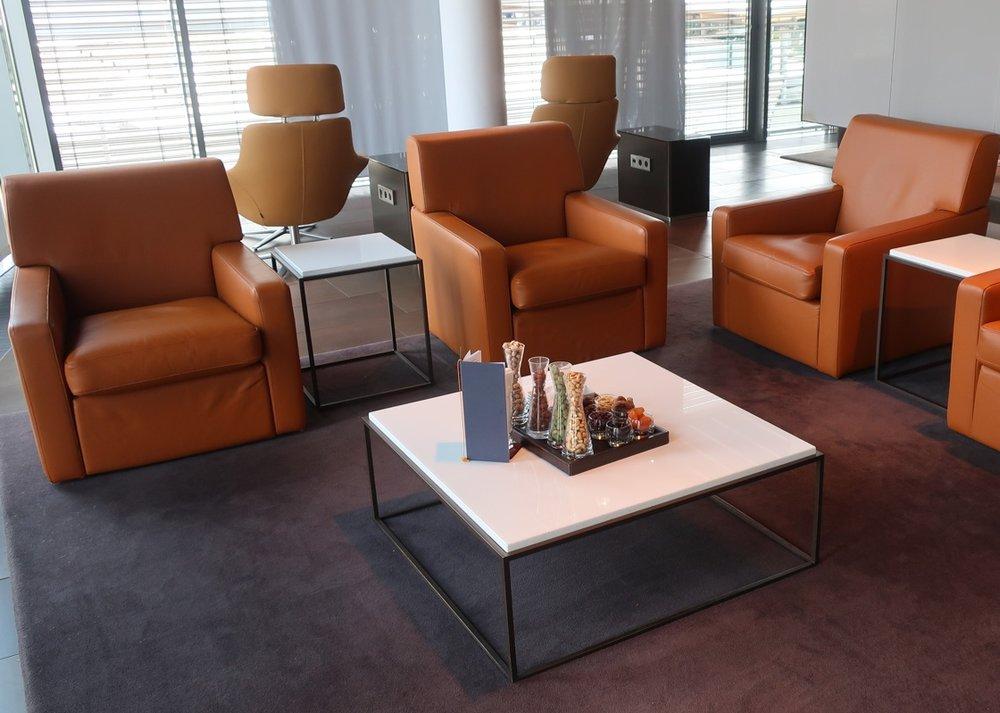 Leather Chairs -  First Class Terminal  - Lufthansa - Frankfurt  Photo: Calvin Wood