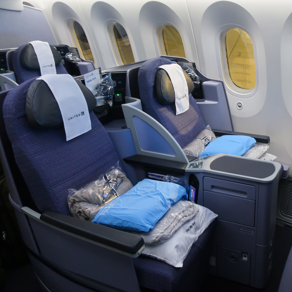 United Polaris Business Class Boeing 787   Photo: Calvin Wood