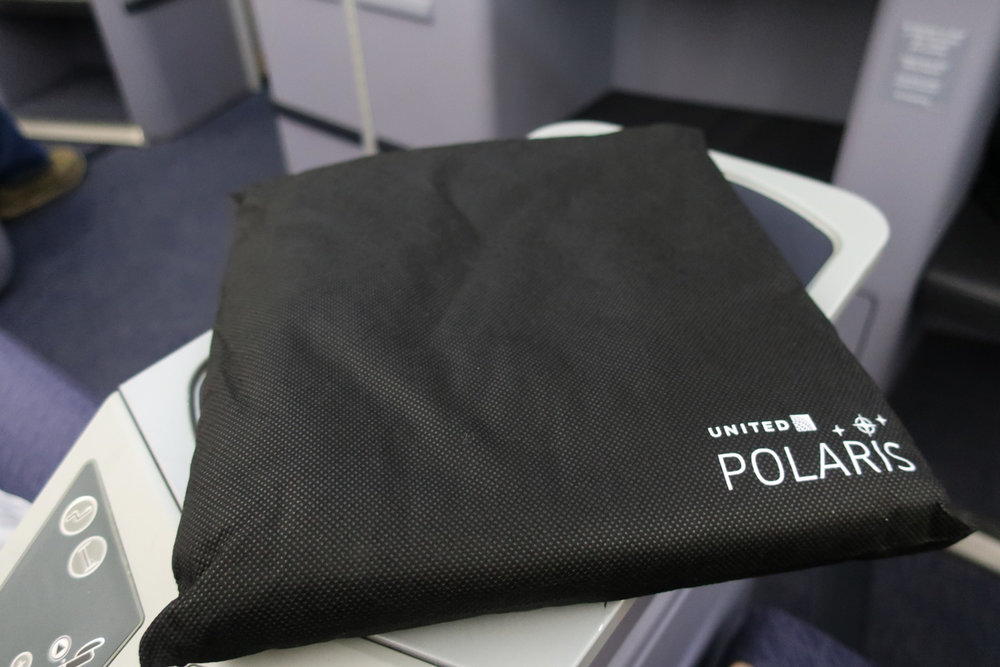 United Has PJ's in Business Class!   Photo: Calvin Wood