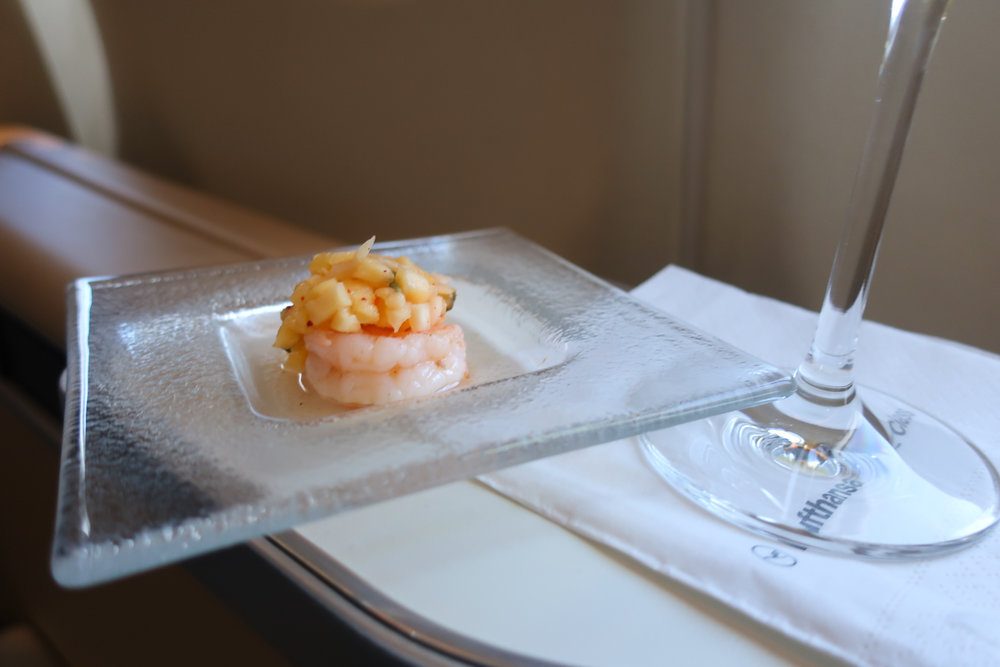 Amuse-Bouche - Lufthansa First Class    Photo: Calvin Wood