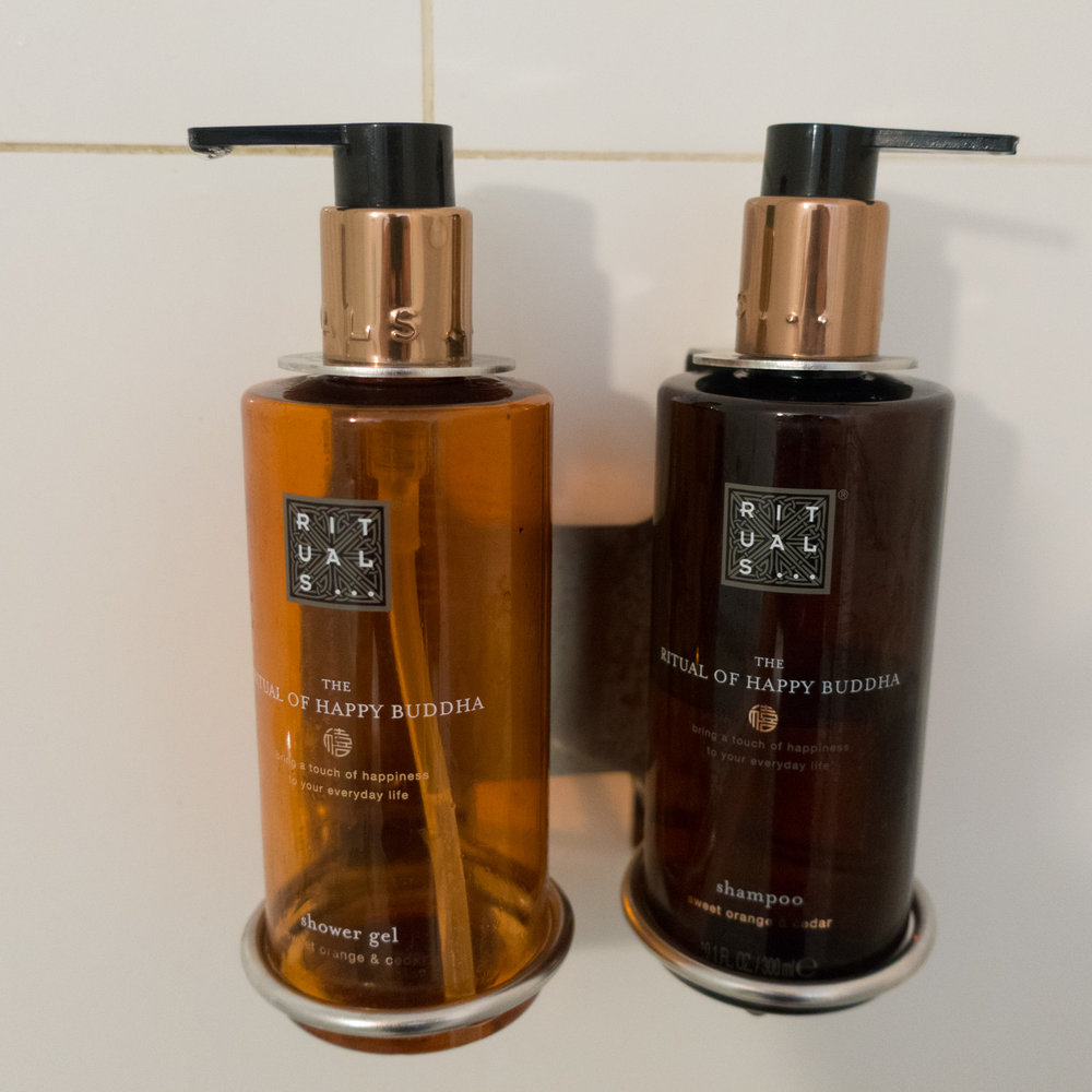Rituals Shower Products - Swiss Business Lounge JFK  Photo: Calvin Wood