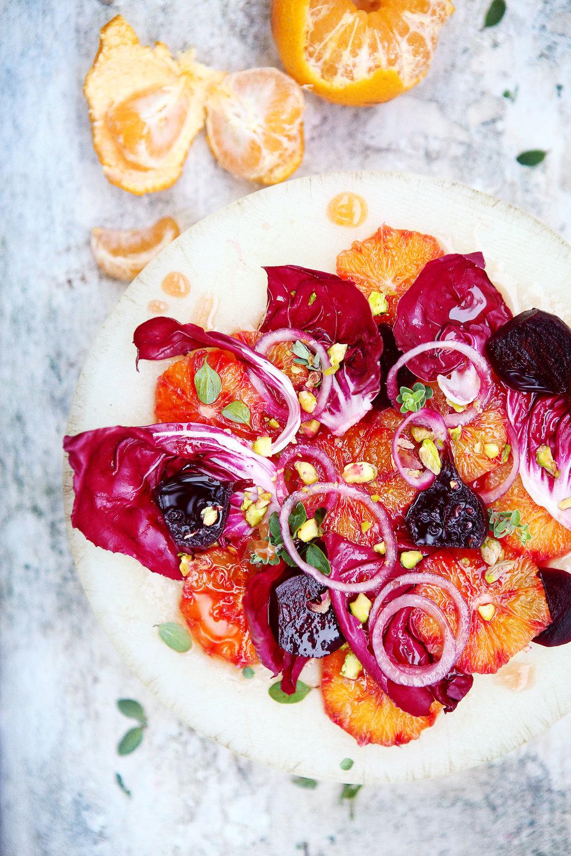 Salade d'oranges sanguines